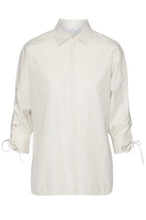 MAX MARA Flipper lace-up cotton-poplin shirt