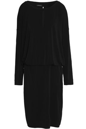 BY MALENE BIRGER Draped wrap-effect stretch-jersey dress