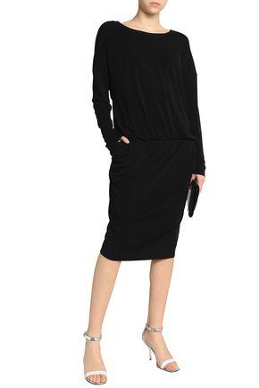 BY MALENE BIRGER Draped wrap-effect stretch-jersey dress