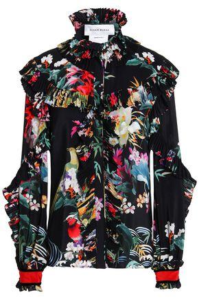ZUHAIR MURAD Ruffled printed silk-georgette blouse