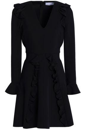 ZUHAIR MURAD Ruffle-trimmed silk-crepe mini dress