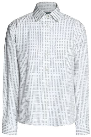 ALEXACHUNG Printed cotton-poplin shirt