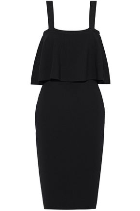 MILLY Layered stretch-knit dress