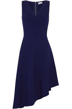 MILLY Asymmetric stretch-knit dress