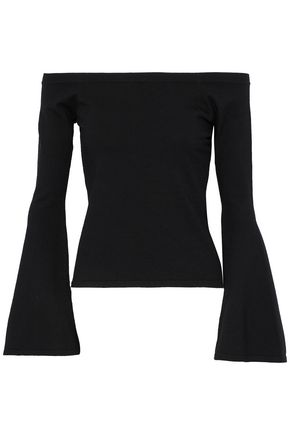 MILLY Selena off-the-shoulder stretch-knit top