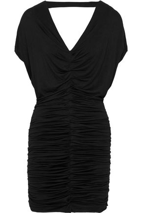 BAILEY 44 Cutout ruched stretch-jersey mini dress