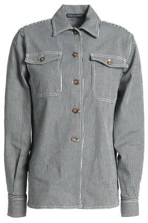 ALEXACHUNG Striped denim shirt