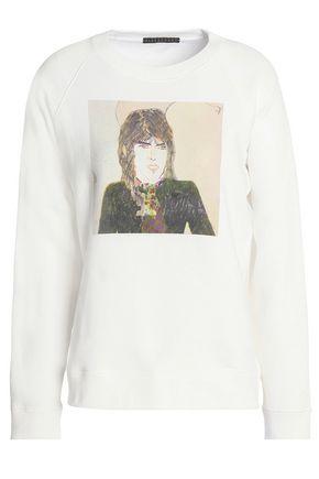 ALEXA CHUNG Printed French cotton-terry sweatshirt