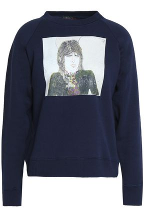 ALEXA CHUNG Printed French cotton-terry sweatshirt