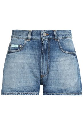 ALEXACHUNG Faded denim shorts