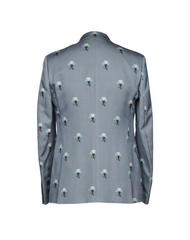 Фото 2 - Мужской пиджак  небесно-голубого цвета