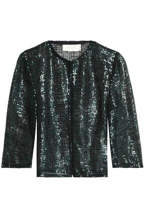 GOAT Sequined open-knit jacket
