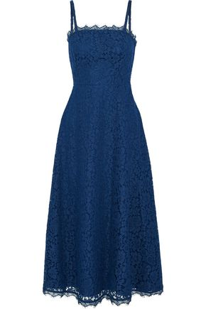 TEMPERLEY LONDON Cotton-blend corded lace midi dress