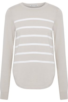 AUTUMN CASHMERE Striped cotton-blend sweater