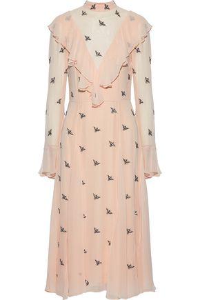 TEMPERLEY LONDON Ruffled embellished chiffon dress