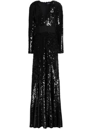 LANVIN Sequined crepe gown