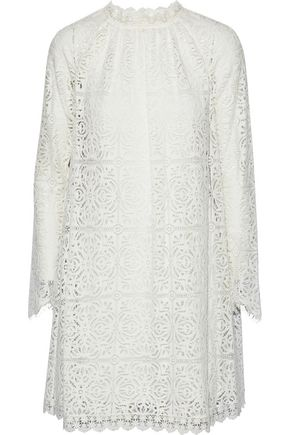TEMPERLEY LONDON Nomi broderie anglaise cotton mini dress