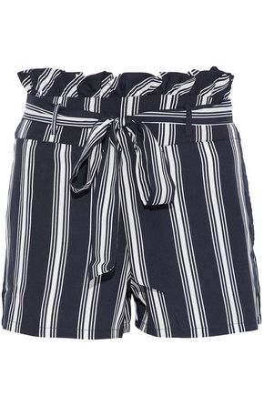 W118 by WALTER BAKER Sarafina striped crepe de chine shorts