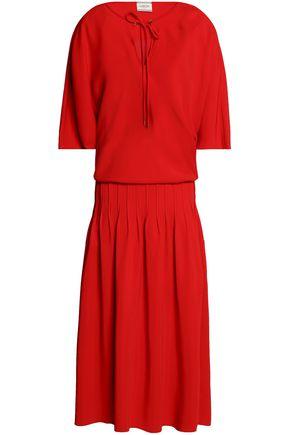 LANVIN Pleated crepe midi dress
