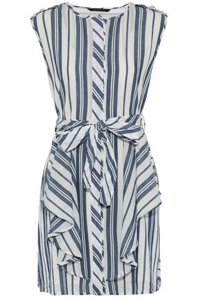 W118 by WALTER BAKER Paul ruffled striped cotton mini dress