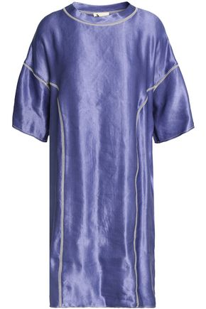 LANVIN Metallic linen-blend mini dress