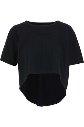 OAK Draped cotton-jersey T-shirt