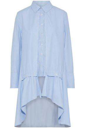 W118 by WALTER BAKER Francine cutout pinstriped cotton-blend poplin shirt