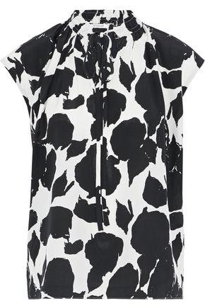DEREK LAM 10 CROSBY Printed silk crepe de chine blouse