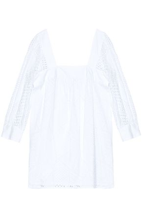 MILLY Broderie anglaise cotton tunic