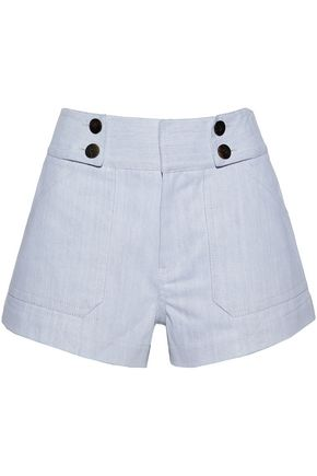 DEREK LAM 10 CROSBY Cotton-blend twill shorts