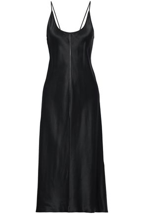 T by ALEXANDER WANG Silk-satin midi slip dress