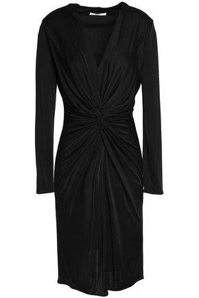 LANVIN Twist-front jersey dress