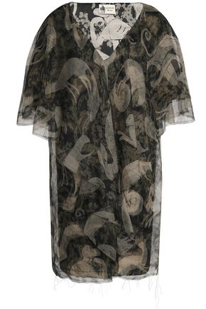 LANVIN Printed organza mini dress