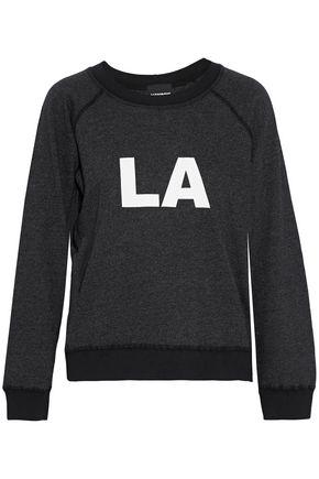 MONROW Printed jersey sweatshirt