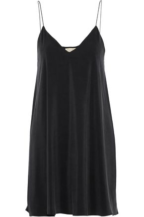 ALICE + OLIVIA Lilla washed-silk mini slip dress