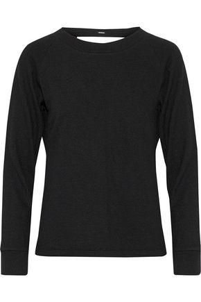 MONROW Cutout knitted sweatshirt