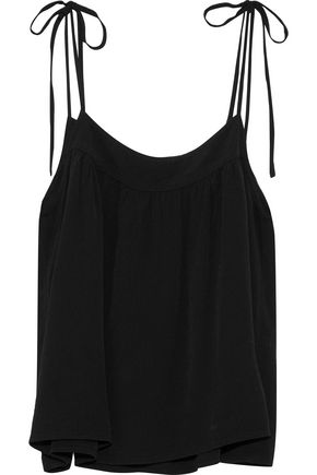 MONROW Gathered crepe camisole