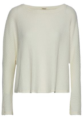 MONROW Waffle-knit sweater