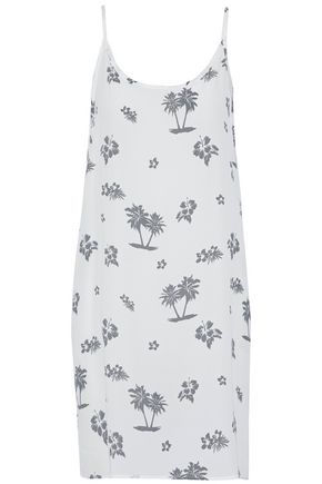 MONROW Printed crepe dress