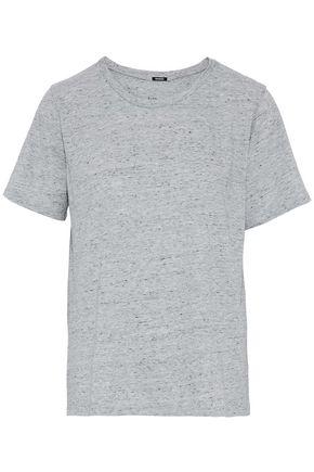 MONROW Marled slub-jersey T-shirt