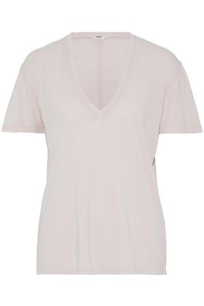 MONROW Modal and Supima-blend jersey top