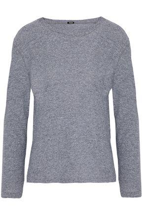 MONROW Mélange slub-jersey top