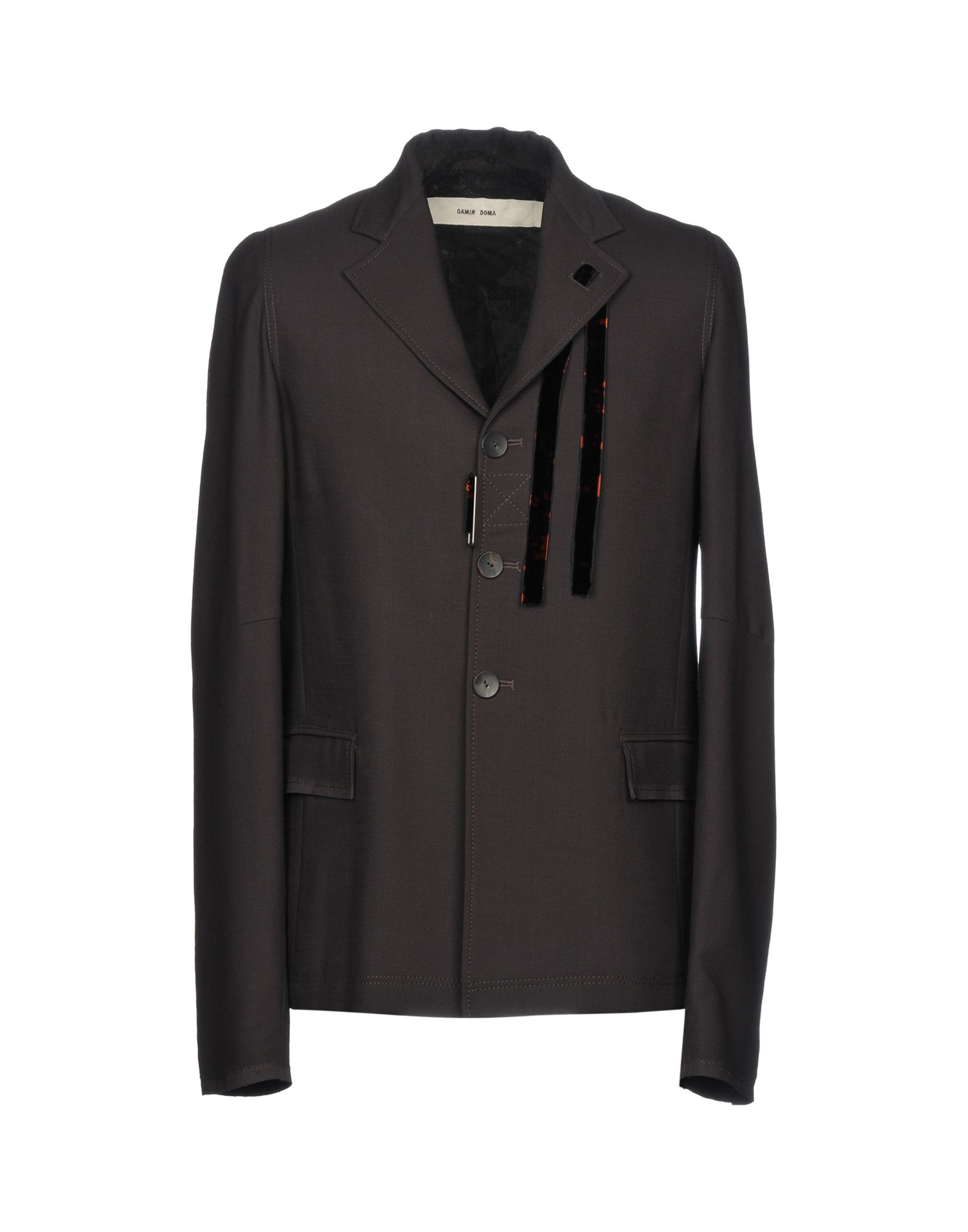 《送料無料》DAMIR DOMA メンズ テーラードジャケット ダークブラウン M バージンウール 100%