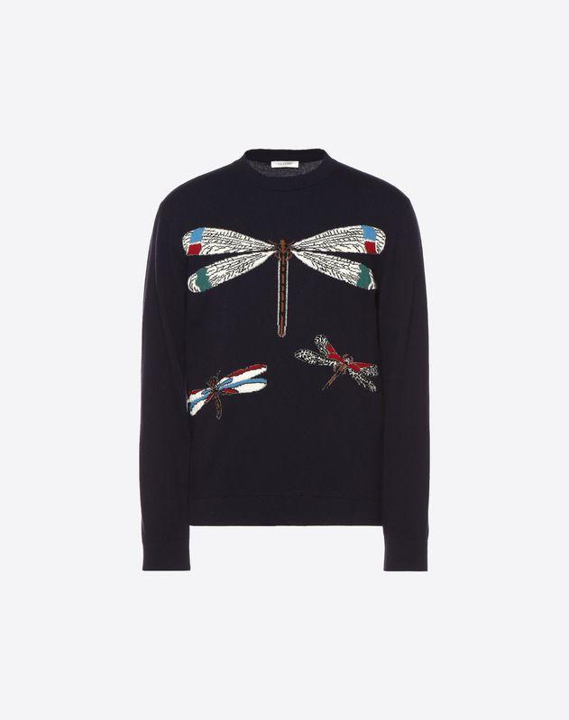Pull avec intarsia Dragonflies