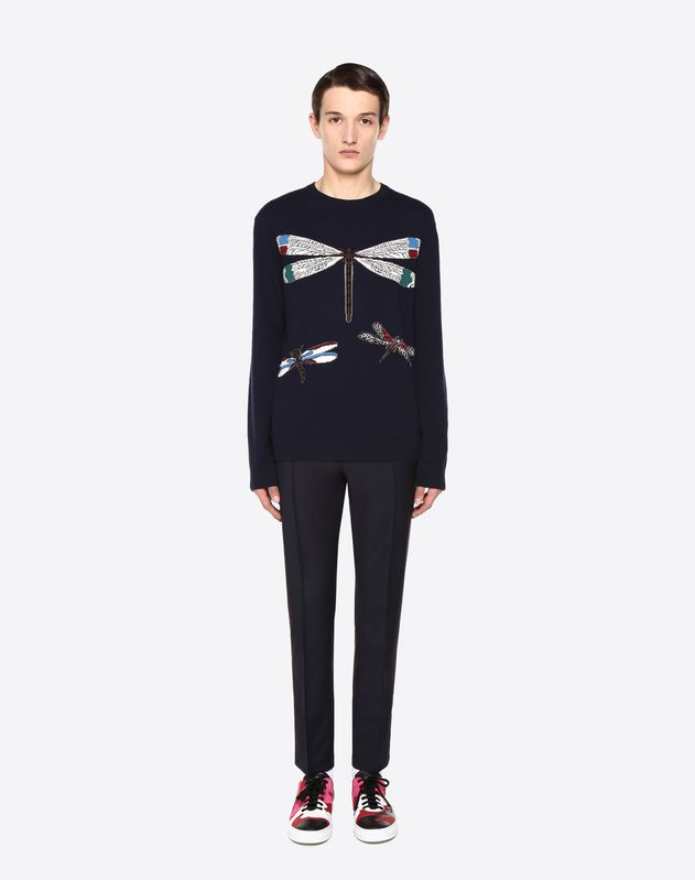 Dragonfly intarsia jumper