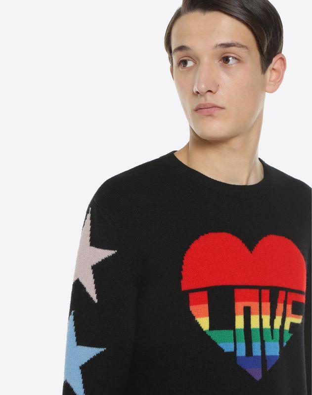 Love intarsia jumper