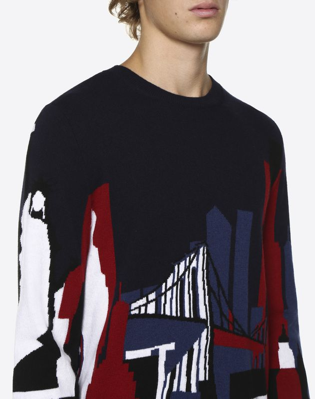 Camou Cities intarsia jumper