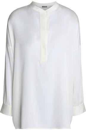 VINCE. Stretch-silk satin blouse
