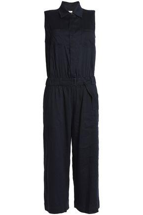 VINCE. Belted linen-blend jumpsuit