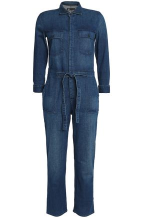 3x1 Belted denim jumpsuit